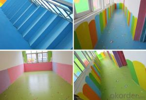 PVC vinyl flooring roll for children's activities room