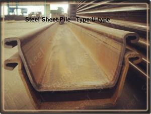 U Steel Sheet Pile/ 500*200*24.3mm/ Export High-Quality Steel Sheet Pile 2015