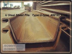 U Steel Sheet Pile/ 400*125*13mm/ Export Steel Sheet Pile