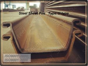 U Steel Sheet Pile 500*200*24.3mm