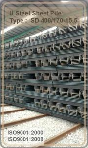 U Steel Sheet Pile/ 400*170*15.5mm/ Export Steel Sheet Pile