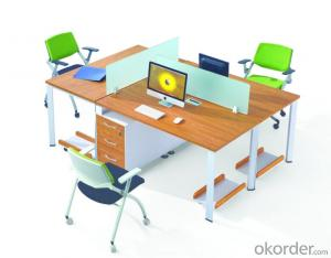 MDF Office Table/Desk  High Quality Wood Melamine/Glass CN3033B