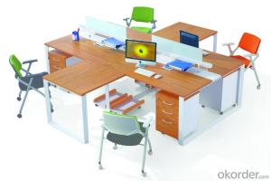 MDF Office Table/Desk  Hight Quality Wood MDF Melamine/Glass CN3033A