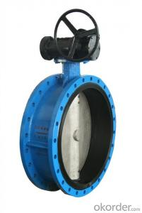 Resilient seated centerline flanged butterfly valve DN40-DN1800