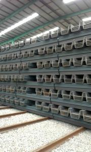 U Steel Sheet Pile/ 400*170*15.5mm/ Export Steel Sheet Pile with High Quality