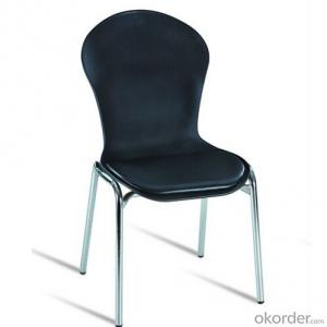 Dinner Chair with Metal Frame and Plastic Seat