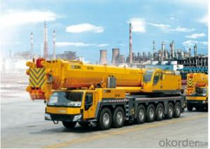 QAY400,adopts 7-axle all terrain chassis, 5-segment oval-section jib