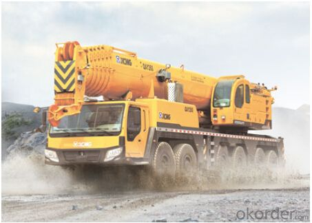 QAY260 all terrain crane,adopts 6-axle all terrain chassis, 12x12 full-axle steering mode