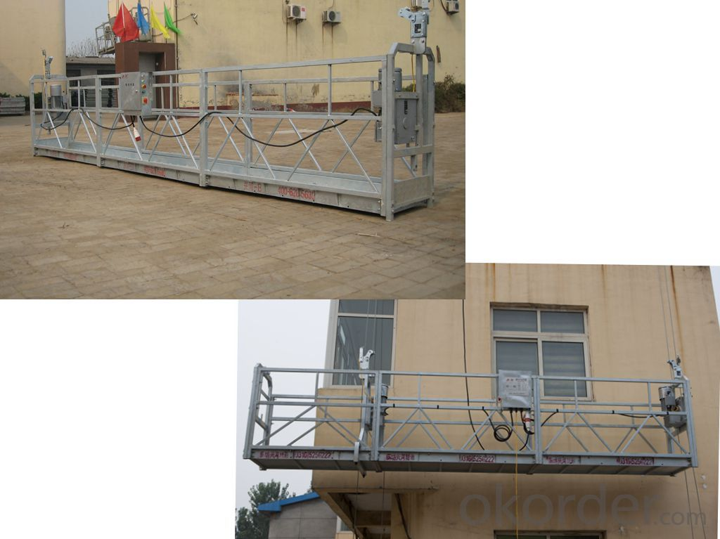 Hot galvanized suspended platform for window cleaning