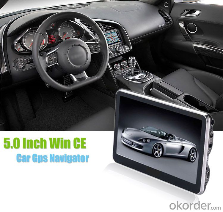 5.0 inch Car GPS Navigation Portable tTpe with WinCE 6.0