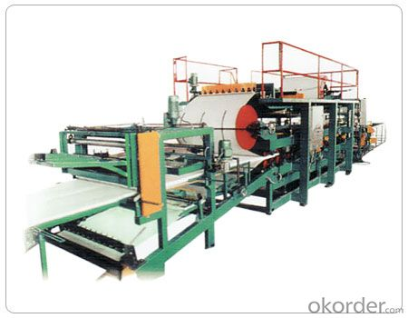 Polyurethane composite plate production line
