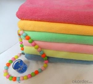 Microfiber cleaning towel with many color