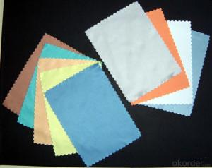 Glasses cleaning cloth with no design for wholesale