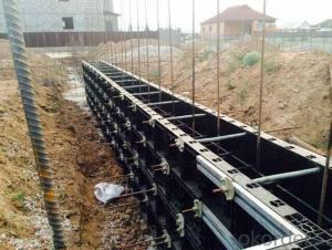 different kinds of plastic formworks used in construction