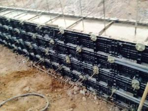 Plastic Formwork System for Concrete Wall Form