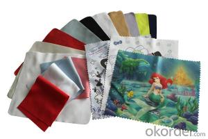 Glasses cleaning cloth with digital printing