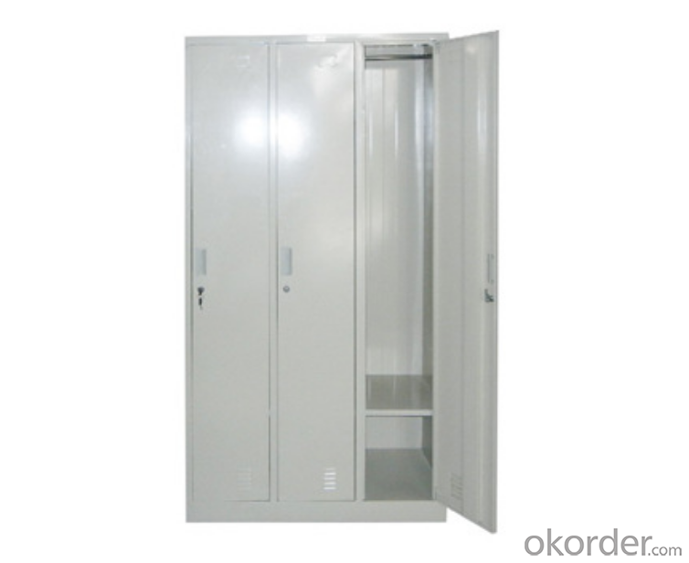 Metal Locker Steel Cabinet Office Furniture School Use  Double Door with Drawer Multi-use