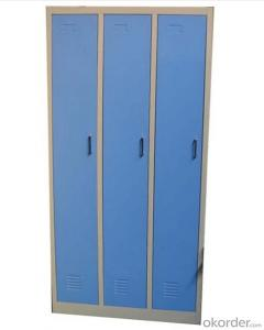 Office Furniture School Locker Glass Double Door with Drawer