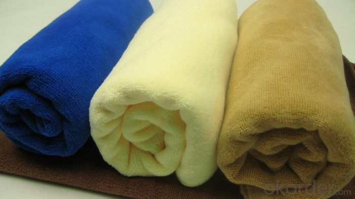 Microfiber cleaning towel for exporting with 3 color