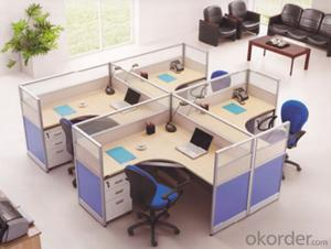 Office Table/Desk Modern Wood MDF Melamine/Glass Modular CN920