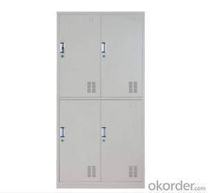 Steel Cabinet Office Furniture School Locker Glass Double Door