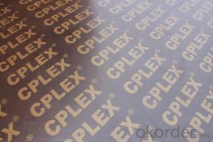 Film Faced Plywood Brown / China & Dubai  / Brand: CPLEX / Finger Joint Core / WBP / 4'x8'x18mm