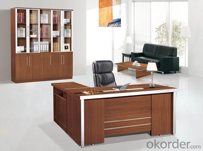 Office Table Excutive Desk Modern Solid Wood Glass Modular Cn802