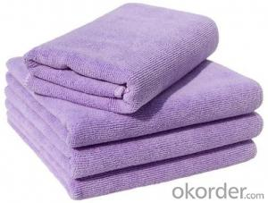 Microfiber cleaning towel with various color