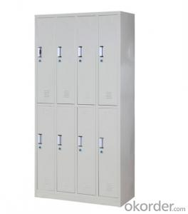 Steel Cabinet Office Furniture School Locker Glass Double Door