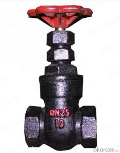 metal seated gate valve red color  in low price