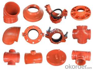 Iron Grooved Fittings of Flexible Coupling Street Elbow