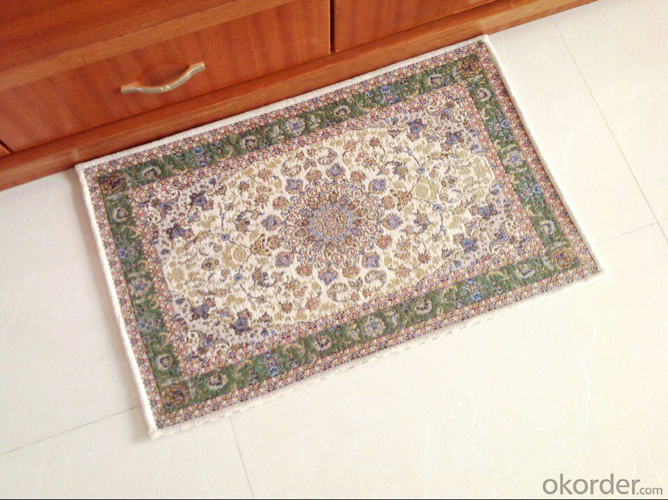 Polyester Jacquard  Rug with Custom Design
