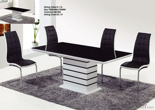 Modern Design Wood and Glass Dinning Tables