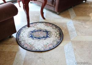 Round Polyester Jacquard  Floor Rug with Good Quality