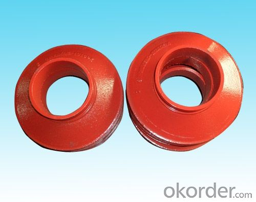 Ductile iron Grooved Fitting of Flexible Couplings Red Sockets