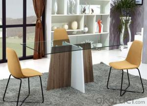 New Modern High Gloss MDF and Glass Dining Table