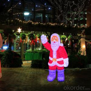 Santa Claus 28CM 24 Led Street Motif Light With CE ROHS Certificate