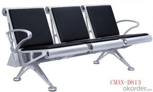 3 Seaters Steel Waiting Chair for Airport Area CMAX-D813