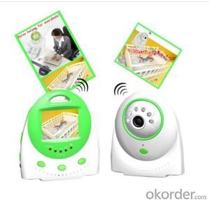 temprerature display two way talk wireless digital baby monitor