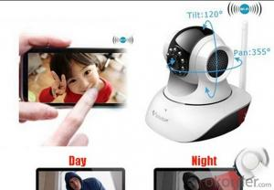 Remote control baby Monitor with Night vision intercom voice wifi network IP Camera