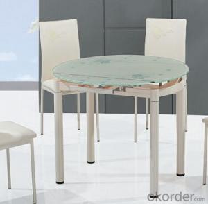 High Quality Modern Glass Top Round Dining Table