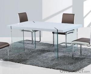 Modern High Gloss and Glass Leg Dining Tables