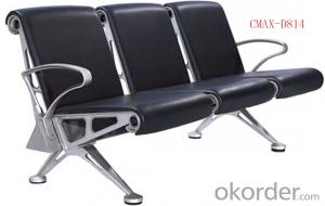 Leather , Aluminium Commercial Waiting Chair CMAX-D814