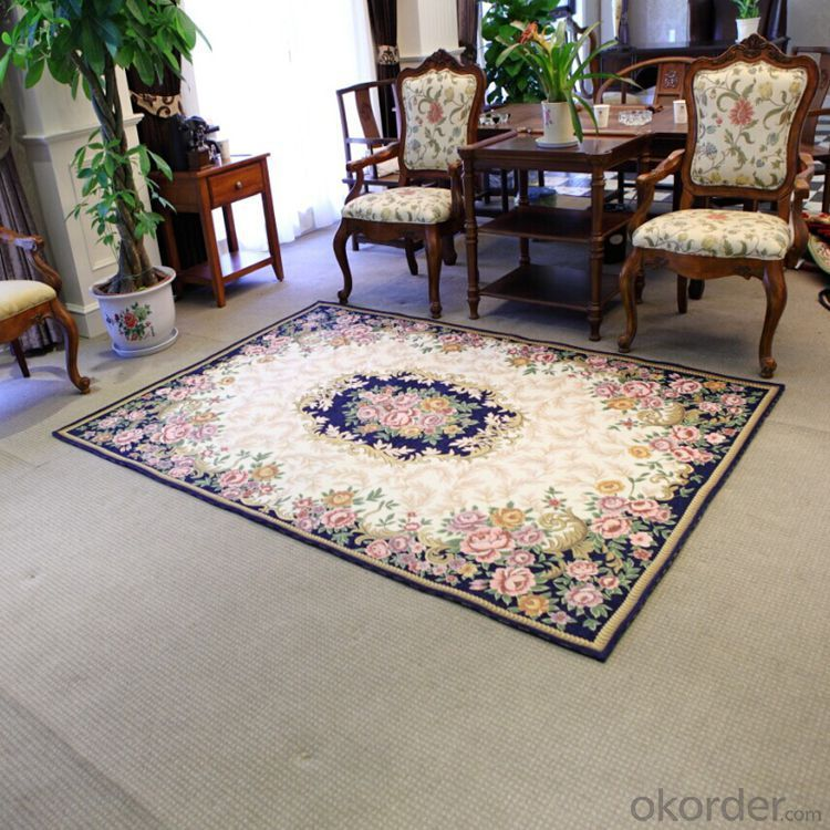 Double Chenille Jacquard Living Room Carpets and Rugs