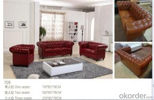 CNBM bounded leather chesterfield sofa CMAX-08