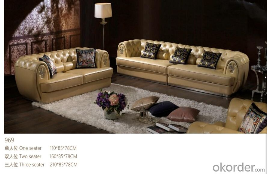 CNBM bounded leather chesterfield sofa CMAX-05