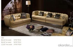 CNBM bounded leather chesterfield sofa CMAX-03