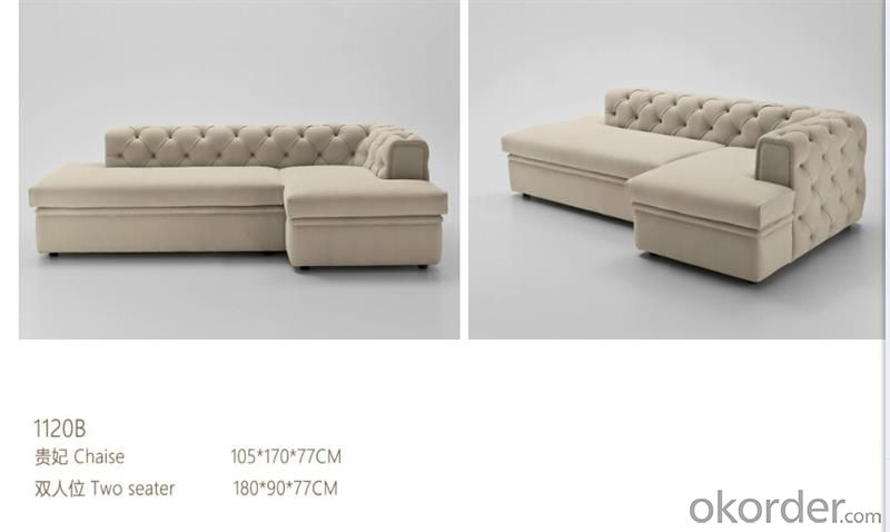 CNBM bounded leather chesterfield sofa CMAX-13
