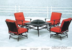Iron Cast Outdoor Chairand  Rattan Garden Dining Set