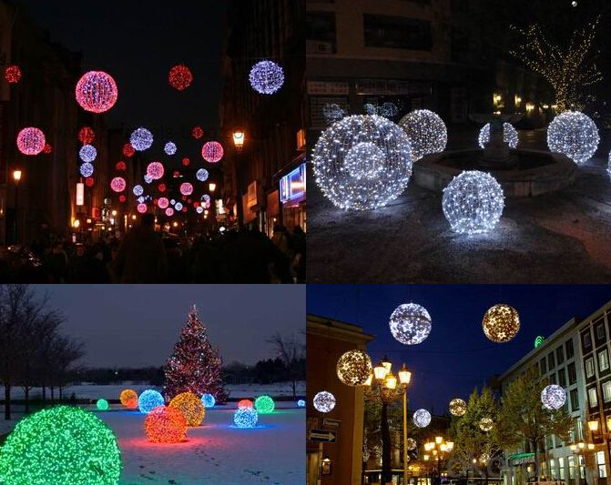 3D LED Holiday Light In Ball Design IP44 Made In China